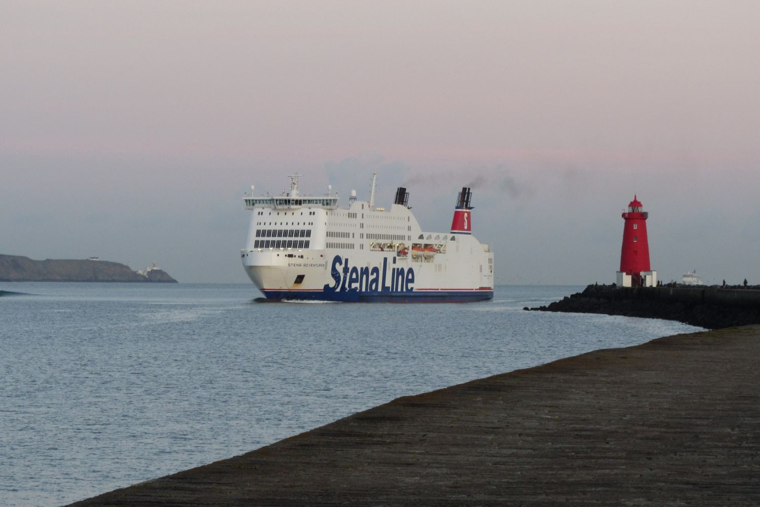 Stena car-ferry approaching Dublin port